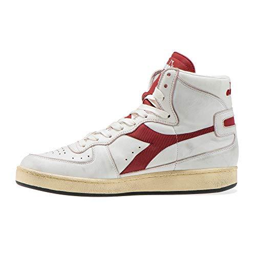 Red 201 Blanc White 15856901c7644 Mi Basket Diadora Brick Used ZXawcY