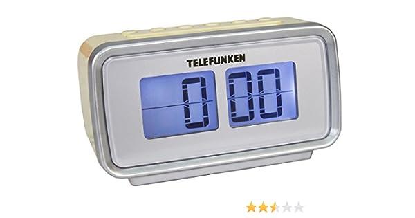 Telefunken R1002 – Reloj Despertador (Radio FM, sintonizador PLL, Doble Alarma, Temporizador, Pantalla LCD), Color Crema: Amazon.es: Electrónica
