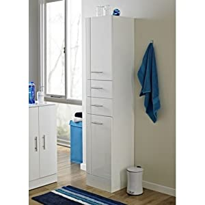 Showerdrape Lucerne Tall Boy Bathroom Cabinet Kitchen Home