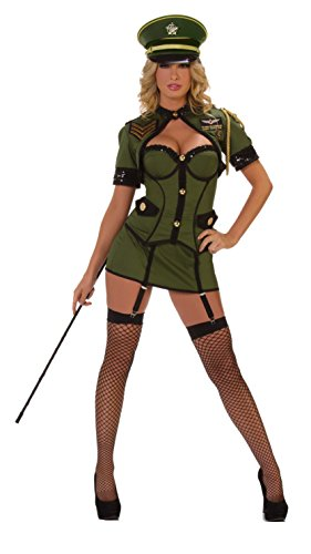 General Costume Army Womens (Starline Sexy Army General Women's Costume, Green,)