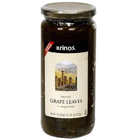 Krinos Grape Leaves in Vinegar Brine, 16 oz, (Pack of - Grape Krinos Leaves