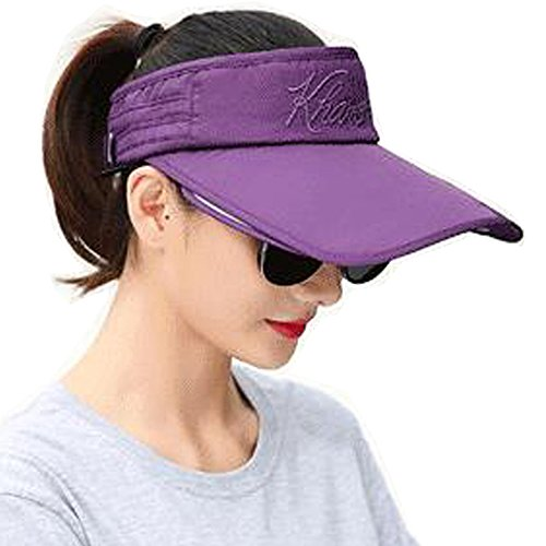 YEKEYI Sun Hat with Retractable Visor Wide Brim Plastic Sun Visor UV Protection Summer Beach Fishing Hat Baseball Cap