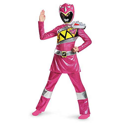 Disguise Pink Ranger Dino Charge Deluxe Costume, Large (10-12) - Childs Pink Power Ranger Costumes