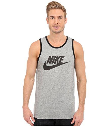 Nike Mens Ace Logo Tank Top Dark Grey/Black 624314-063 Size Small by NIKE