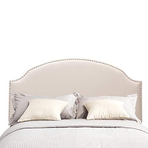 Arch King Headboard - Andeworld Arch Headboard Queen/Full Size with Nailhead Trim in Ivory, King