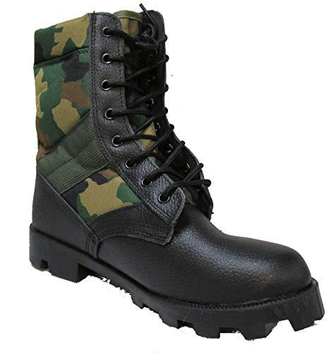 - Military Uniform Supply Jungle Boots with Woodland CAMO - 8 Regular