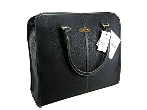 new-nine-west-logo-laptop-computer-carry-on-luggage-xl-purse-hand-bag-tote-black