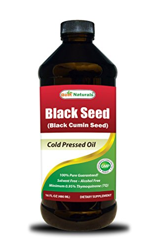 Best Naturals Black Seed Oil 16 OZ - Cold Pressed - Alcohol Free - Solvent Free - Black Cumin Seed Oil from 100% Genuine Nigella Sativa -