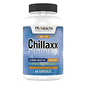 419g6ufQWqL. SS300  - CHILLAXX Natural Stress Relief & Anti-Anxiety Relief Supplement, Busy Minds & Jitters, Regulate Nerves; Promotes Relaxation; Boosts Focus & Mood Ashwagandha, Rhodiola, Lemon Balm, B Vita