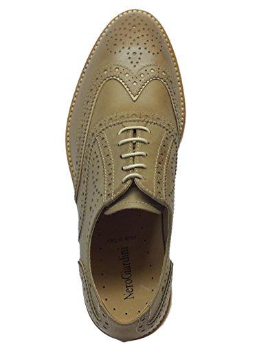 Scarpe per NeroGiardini Nero Tortora in Colore Effetto Duilio Giardini Pelle Tortora Sabbia Donna Z5C5txnqSw