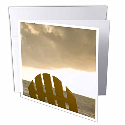 - 3dRose Danita Delimont - Belize - Lounge chair on beach, Placencia, Belize - SA02 JME0194 - John and Lisa Merrill - 12 Greeting Cards with envelopes (gc_85557_2)