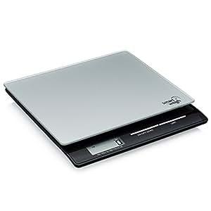Smart Weigh PL11B Báscula Digital Profesional de Cocina y Postal con Pantalla Grande y Plataforma de Cristal Templado