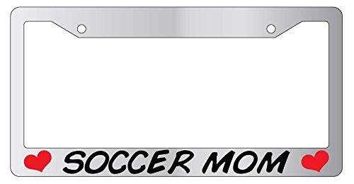Soccer Mom High Quality Chrome METAL License Plate (Soccer Mom License Plate)