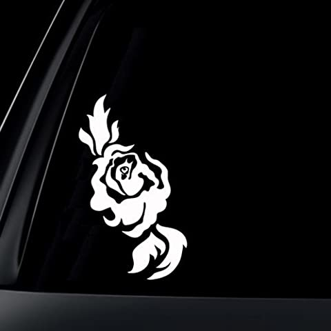 Rose - Vinyl Decal - Car Phone Helmet - SELECT SIZE (Black Thorn Usa Water Bottle)