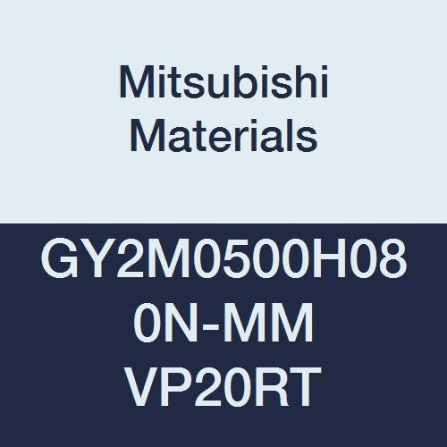 Pack of 10 0.197 Grooving Width H Seat Mitsubishi Materials GY2M0500H080N-MM VP20RT GY Series Carbide Grooving Insert for Multifunctional and Medium Feeds 2 Teeth 0.031 Corner Radius