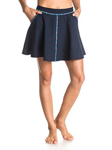 Roxy Juniors Flip It Smocked Woven Skirt, Dark Indigo, Small