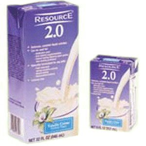 Resource 2.0 Delicious Complete Vanilla Creme Flavor 8 oz. Brik Pak [1 Can]