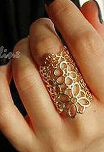 Vintage Hollow Flower Ring for women.