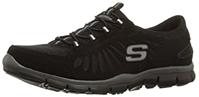 Skechers Sport Women's Gratis-In Motion Fashion Sneaker,Black,5 M US