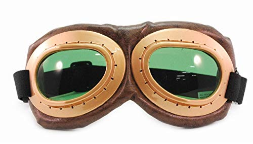 elope Aviator Goggles, Brown/Green, One Size
