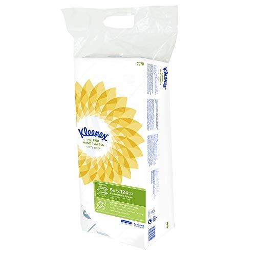 Kleenex Ultra 7979 Handdoeken Met Interfold-Vouw, 2-Laags, 5 X 124 Doeken, Wit