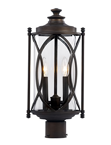 Trans Globe Lighting 40415 ROB Outdoor Fiesta 24'' Postmount Lantern, Rubbed Oil Bronze by Trans Globe Lighting
