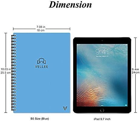 Reusable Smart Erasable Notebook, Heat Wet Erase, Waterproof