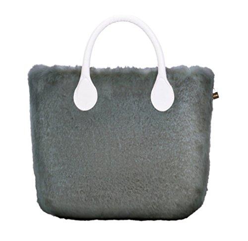 Ecopelliccia O Mini Lapin Bag Grigio Cover in qqx7pZv
