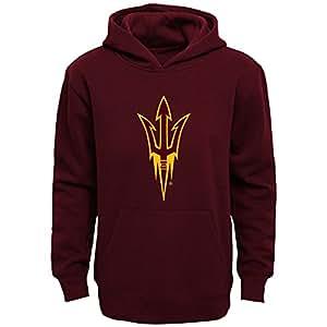 NCAA by Outerstuff NCAA Arizona State Sun Devils Kids Primary Logo Fleece Hoodie, Brick, Kids Medium(5-6)