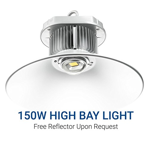 Hyperikon LED High Bay Light, 150W (600W HID / HPS equivalent), 14,000 lumens, 5000K (Crystal White Glow), DLC 4.2 Qualified & UL Certified, Indoor Area Lighting, Free Reflector Upon Request