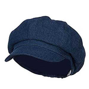 Big Size Cotton Newsboy Hat – Denim (for Big Head)