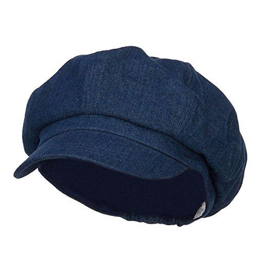 (Big Size Cotton Newsboy Hat - Denim (for Big Head))
