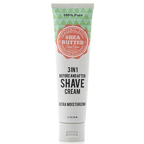 Organic SCA 100% Pure Natural Shaving Cream 3-in-1 Before and After Shave Cream for Men 3.4 oz / 100 ml