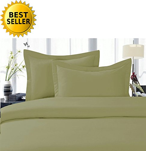 Duvet Microfiber - Celine Linen® Best, Softest, Coziest Duvet Cover Ever! 1500 Thread Count Egyptian Quality Luxury Super Soft WRINKLE FREE 3-Piece Duvet Cover Set , King/Cali King, Sage-Green