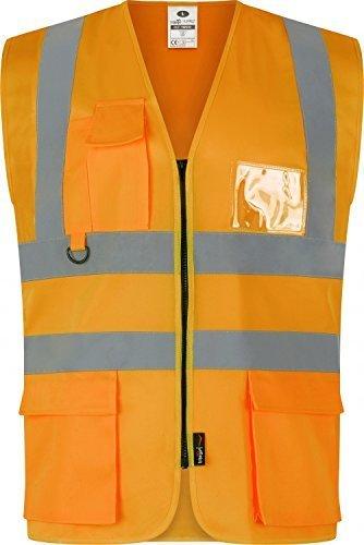 traega TWC04 Hi Vis visibilité sécurité vêtements de travail exécutif gilet veste - Jaune Haute Visibilité, 4XL