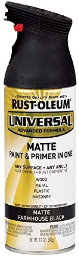 RUST-OLEUM 330505 12 oz Farmhouse Black Matte Finish Spray Paint