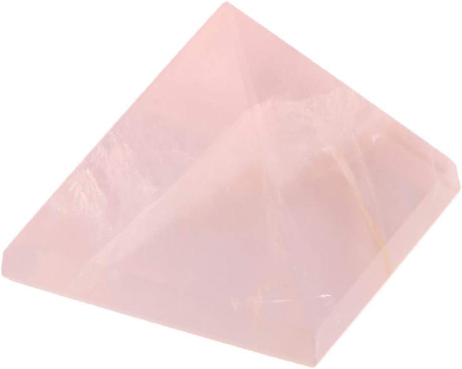 Modelo de Pirámide de Cristal Natural Adornos Roca Blanca Cuarzo Amuleto para Familiares Regalo de Colección - Rosa 3cm