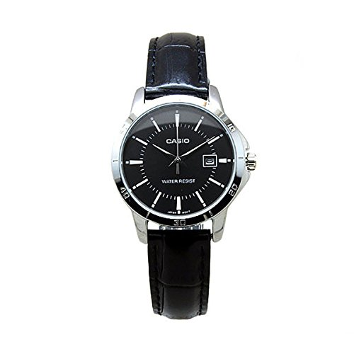Casio Women's LTP-V004L-1A Genuine Leather Band Analog Watch