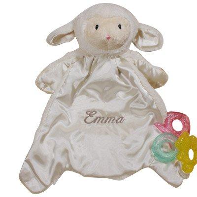 (GiftsForYouNow Personalized Baby HuggyBuddy Lamb Blanket, 20