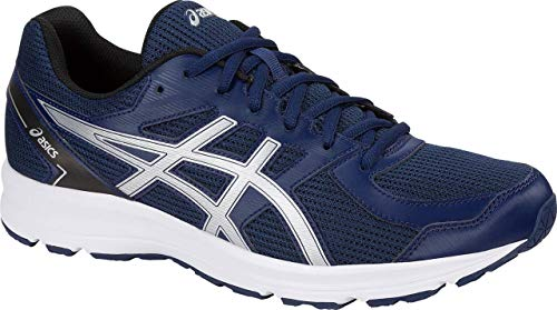 ASICS Jolt Men's Running Shoe, Indigo Blue/Silver/Black, 10 M US