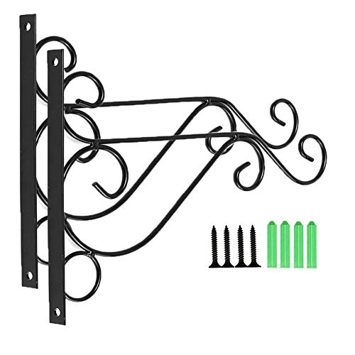 Flower Plants Pot Hooks for Lanterns,Planters,Hanging Bird Feeders,Wind Chimes,Ornaments (2 Pcs (Flower Pot Brackets)