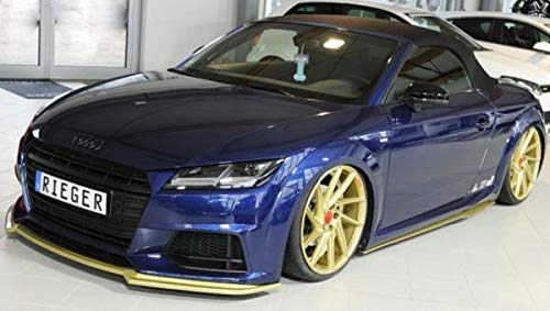 : 07.14- 8J-FV//8S 8J-FV//8S Rieger Spoiler Anteriore Nero Opaco per Audi TT TTS : 11.14