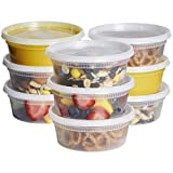 8 oz freezer containers - [48 Sets - 8 oz.] Plastic Deli Food Storage Containers with Airtight Lids