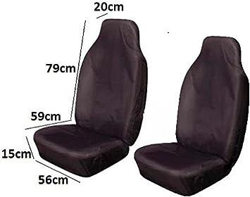 2x BLACK CAR AIRBAG EXTRA STRONG CAR SEAT COVER PROTECTOR VAN MPV