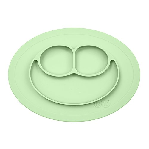 ezpz Mini Mat - One-piece silicone placemat + plate (Gray) ()