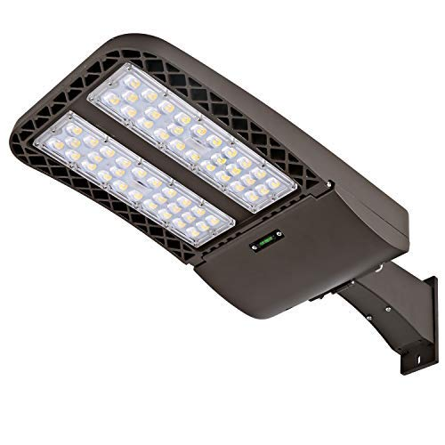 Hykolity 300W LED Parking Lot Light with Photocell,39000lm 5000K Waterproof LED Shoebox Fixture, Outdoor Pole Mount Light for Large Area Lighting [1000w Equivalent] Arm Mount DLC Complied by hykolity (Image #1)