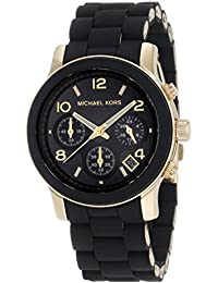 Michael Kors Women's MK5191 Runway Black Stainless Steel...