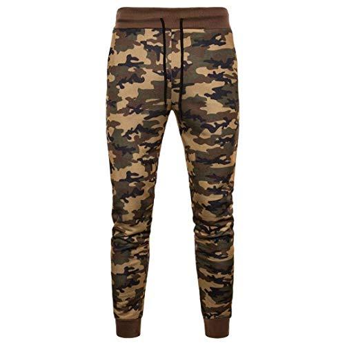 Mode À Sport Vintage Lacets Fit Camouflage Hommes De Classique Arancione Casual Garçons Pantalon Formation Slim BqUIgZ