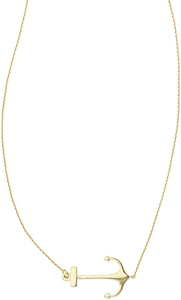 Anchor Necklace 14Kt Gold Anchor Necklace 18 Inches