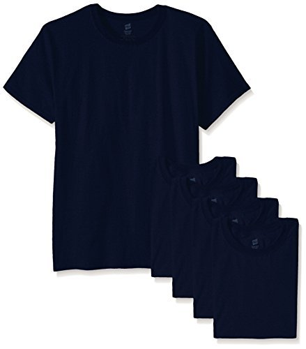 Navy Mens Tee - Hanes Men's ComfortSoft T-Shirt (Pack of 6), Navy, Medium